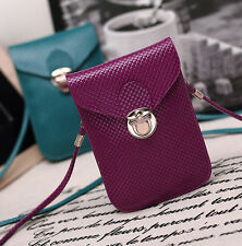 Lady PU Leather Mini Crossbody Bag Phone Bag for iPhone 5S 6 6S Samsung S6 S7