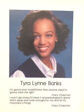 TYRA BANKS' PERSONAL 1991 SENIOR HIGH SCHOOL YEARBOOK SIGNED IN NEW CONDITION