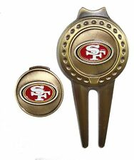 San Francisco 49ers Hat Clip & Divot Tool with Golf Ball Marker Combo