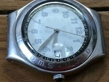 SWATCH IRONY VINTAGE WATCH STAINLESS STEEL WATER-RESISTANT.