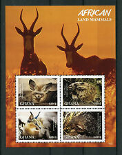 Ghana 2016 MNH African Land Mammals 4v M/S Hedgehogs Foxes Caracal Stamps