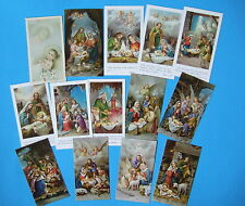 Lot of 14 CHRISTMAS HOLY CARDS lovely Nativity pictures 1 vintage Baby Jesus