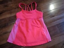 LULULEMON ivivva girls dance tank bright passion AND PINK size 10