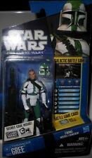 "Hasbro STAR  WARS  COMMANDER  GREE!  CLONE  WARS  yr 2010  33/4""  ACTION  FIGURE"