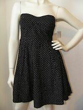 NWT Black & White Polka Dot Strapless dress by Derek Heart in size M
