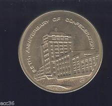 NEWFOUNDLAND 1974 Confederation Building Medal F04