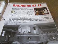 Deutsche Eisenbahngeschichte 1920-1949 BAureihe ET 11 1. E Triebwagen DRG