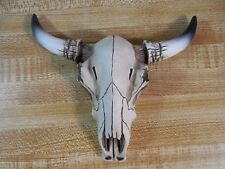 """NEW Cow Skull w/ Horns Western Bull Steer Wall Decor, Tribal Southwestern 5.25"""""""