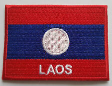 NATIONAL OLYMPIC COUNTRY FLAG (SMALL) SEW ON / IRON ON PATCH:- LAOS