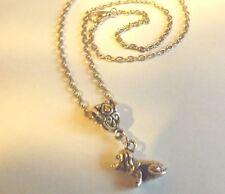 collier 46,5 cm avec pendentif chien 13x15mm