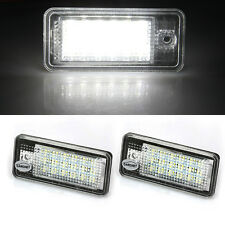 CARCHET 2 White 18LEDs 3528SMD License Plate Lights Lamps for AUDI A3 8P A6 4F