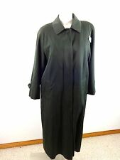 SANYO WOMENS FOREST GREEN WOOL WITH RAYON LINING LONG COAT SIZE 6 SUPER CUTE!