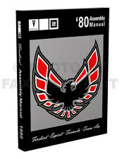80 Firebird and Trans Am Assembly Manual useful for 1978 1979 Pontiac Bound