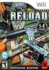 Wii RELOAD TARGET DOWN NEW SHOOTER GAME 1-4 PLAYERS