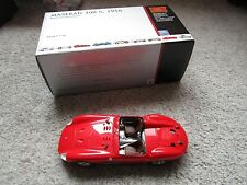 CMC 1/18 Maserati 300 S 1956 Diecast W Box Papers Tag Cloth Tweezers