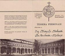 TESSERA UNIVERSITA' CATTOLICA DEL SACRO CUORE MILANO P.ZZA S. AMBROGIO 1944 9-79