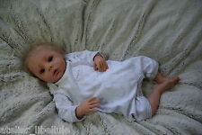 Moritz by Sabine Wegner, L.E. reborn baby doll, rooted DD mohair, Lauschaer eyes