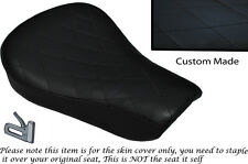 DIAMOND STITCH BLACK CUSTOM FITS HARLEY SPORTSTER 883 48 72 RIDER SEAT COVER