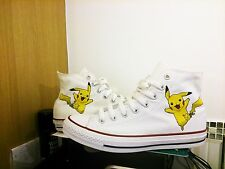 Custom Pokemon Go Trainers, Pikachu Sneakers & Shoes - All Sizes MADE TO ORDER!