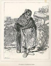 """Gavarni, Paul - """"ètudes d 'androgynes"""" de """"Masques et rostros"""" mostrarían 1853"""