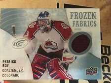 2014/15 Upper Deck Ice Frozen Fabrics Patrick Roy Jersey Card FZF-RO