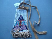 NORTHERN PLAINS BEADED  MEDICINE POUCH, NORTH AMERICAN BEADED BAG, #CO-00176