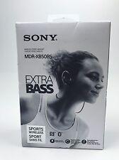 Sony - MDR-XB50BS Extra Bass Sport Wireless In-Ear Headphones - Black
