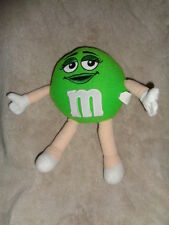 "M&M Plain Green Girl Large 10"" Stuffed Plush Mars Candy toy bendable arms legs"