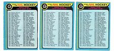 1X UNMARKED CHECKLIST 1979 80 O Pee Chee #237 EX-EXMT opc Lots Available