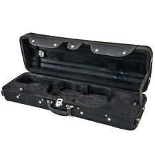 NEW Top Deluxe Quality 4/4 Size Acoustic Violin Fiddle Case All Black w/ Strap