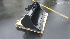 "New 48"" Yanmar B50 Excavator Ditch Cleaning Bucket with Bolt On Edge"