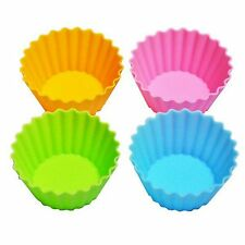 Set of 4 ECO Re-usable Silicon Bento Box Food Cup Jelly Mold  S-3337