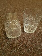 SET OF 2 WATERFORD CYRSTAL TUMBLERS OLD FASHIONED GLASS