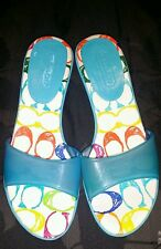 Coach Michelle Jelly BLUE Sandals Heel size 6.5 Women Shoes