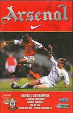Football Programme - Arsenal v Southampton - Premiership - 2/12/2000