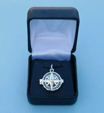Beautiful Sterling Silver Working Compass Rose Locket - Seen on General Hospital