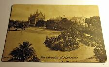 Sepa Tone Postcard University of Melbourne in Australia Early 1900's