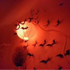 12pcs 3D Stereoscopic Bat Halloween Wall Sticker Decal Removable Home Decor