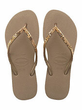havaianas SPECIAL COLLECTION Slim Metal Mesh Rose Gold flip-flops  UK size 5