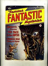 FAMOUS FANTASTIC MYSTERIES-10/40  FACE IN THE ABYSS-MERRITT-SUPERB CVR-FINLAY HG