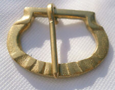 A pack of 2 Medieval brass buckle, reenactment living history LARP 016