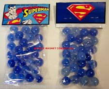 2 BAGS OF SUPERMAN THE MAN OF STEEL  CARTOON ADVERTISING PROMO MARBLES