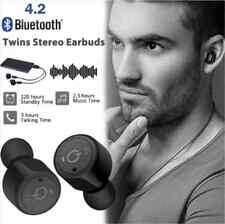 Mini True Wireless Bluetooth Twins Stereo In-Ear Headset Earphone Ear-buds Black