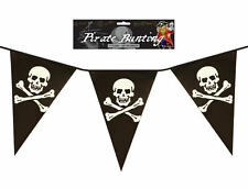 Pirate 12ft Bunting - 11 Flags - Plastic Party Teen/Kids Pennants Banner