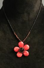 Women's Red Flower Fashion Necklace Perfect For Spring and Summer Excellent!