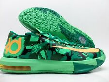 "NIKE KD VI KEVIN DURANT ""CAMO"" LUCID GREEN/ORNAGE SIZE MEN'S 11 [599424-303"