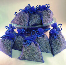 Set of 50 Lavender Sachets made with Royal Blue Organza Bags