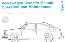 1972 Volkswagen Type 3 Owners Manual mw269-E2OSE1