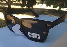 Mens Sunglasses Polarized WF Matte Black Rubber Square Style Retro Generic New