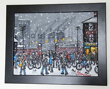 Northern artista James Downie Original Pintura al Óleo Arte L.s Lowry inspirado